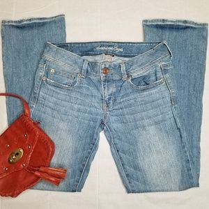 American Eagle Stretch Slim Boot Light Jeans 6R
